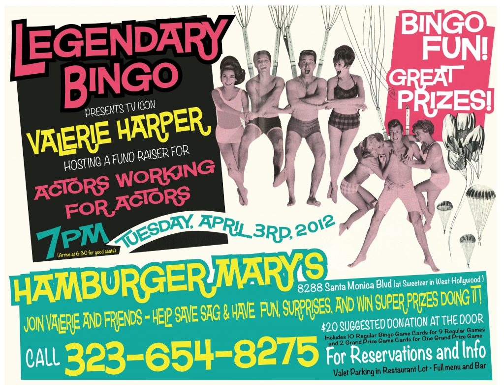 Legendary BINGO FUND RAISER April 3rd