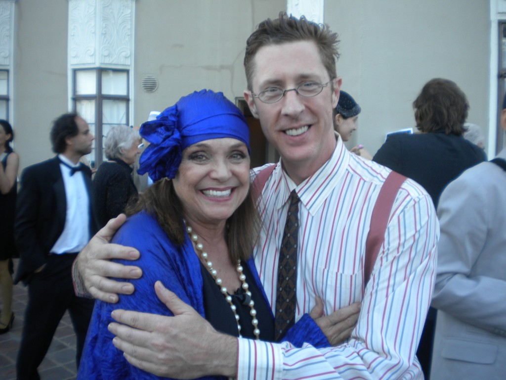 Valerie Harper and Brian Hamilton at Frances Fisher's birthday party