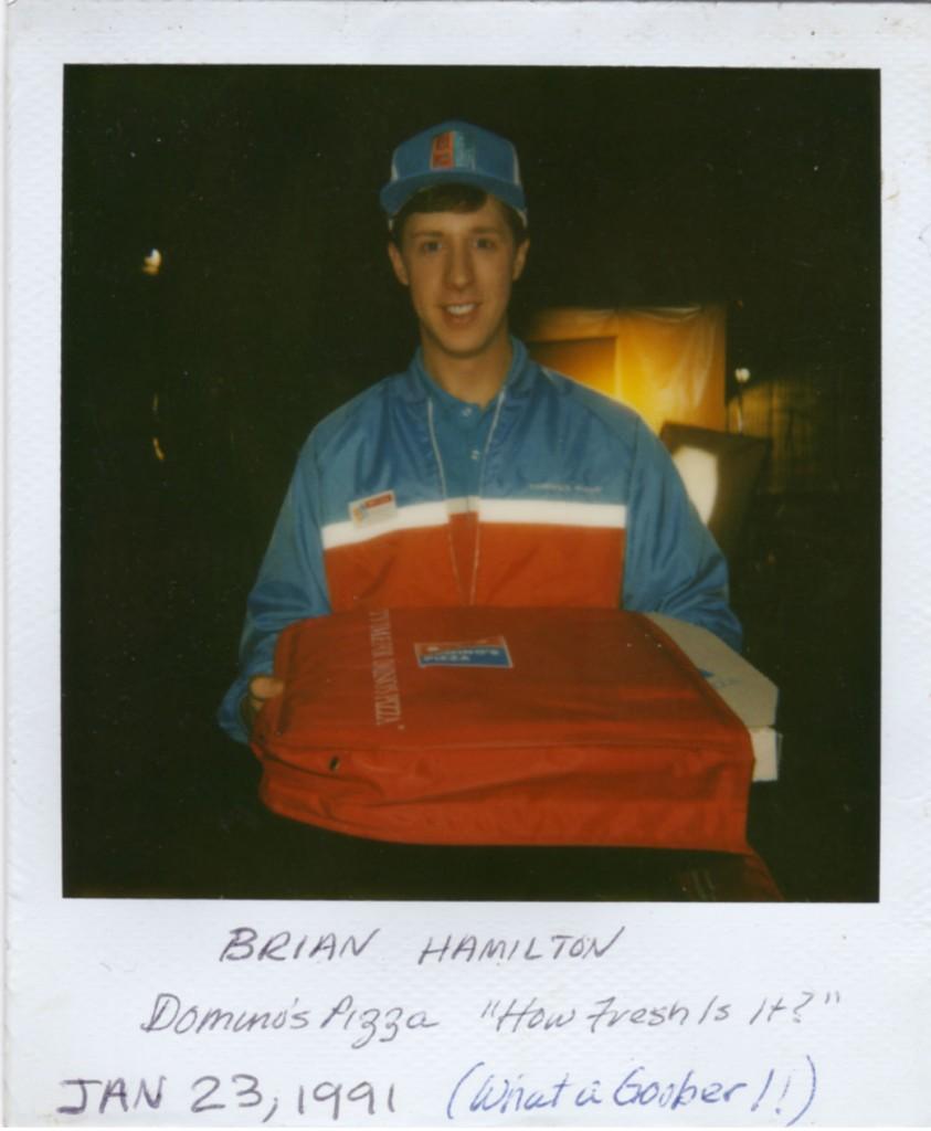 Brian Hamilton actor, in Dominos Commercial 1991