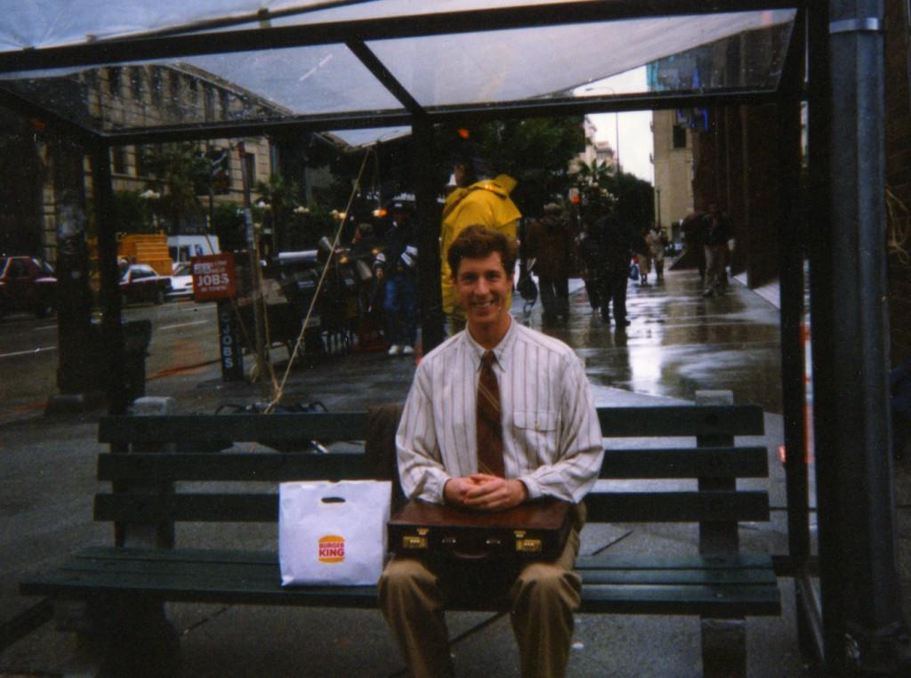 Brian Hamilton actor, shoots a Burger King commercial