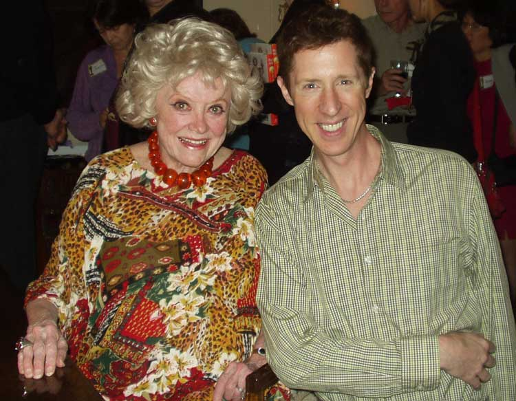 Brian Hamilton and comedienne Phyllis Diller