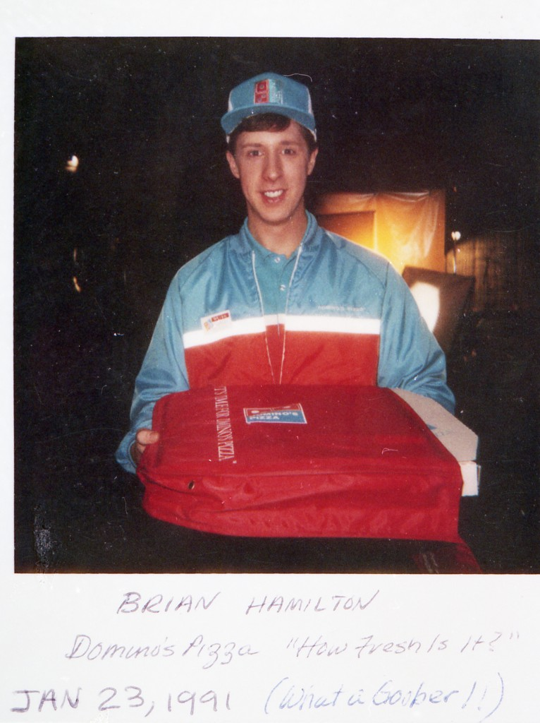 Brian Hamilton in Dominos Pizza commercial 1991