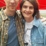 Gaby Hoffmann and Brian Hamilton in Los Angeles.