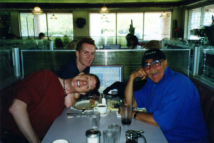 Brian Hamilton, Todd Geyer, and Rip Taylor at Blueberry Hill diner in Las Vegas