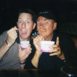 Brian Hamilton and Rip Taylor at Baskin Robbins in Las Vegas