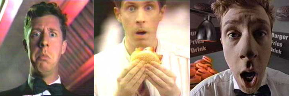 Brian Hamilton in commercials for Coco's, Burger King, and Taco Bell
