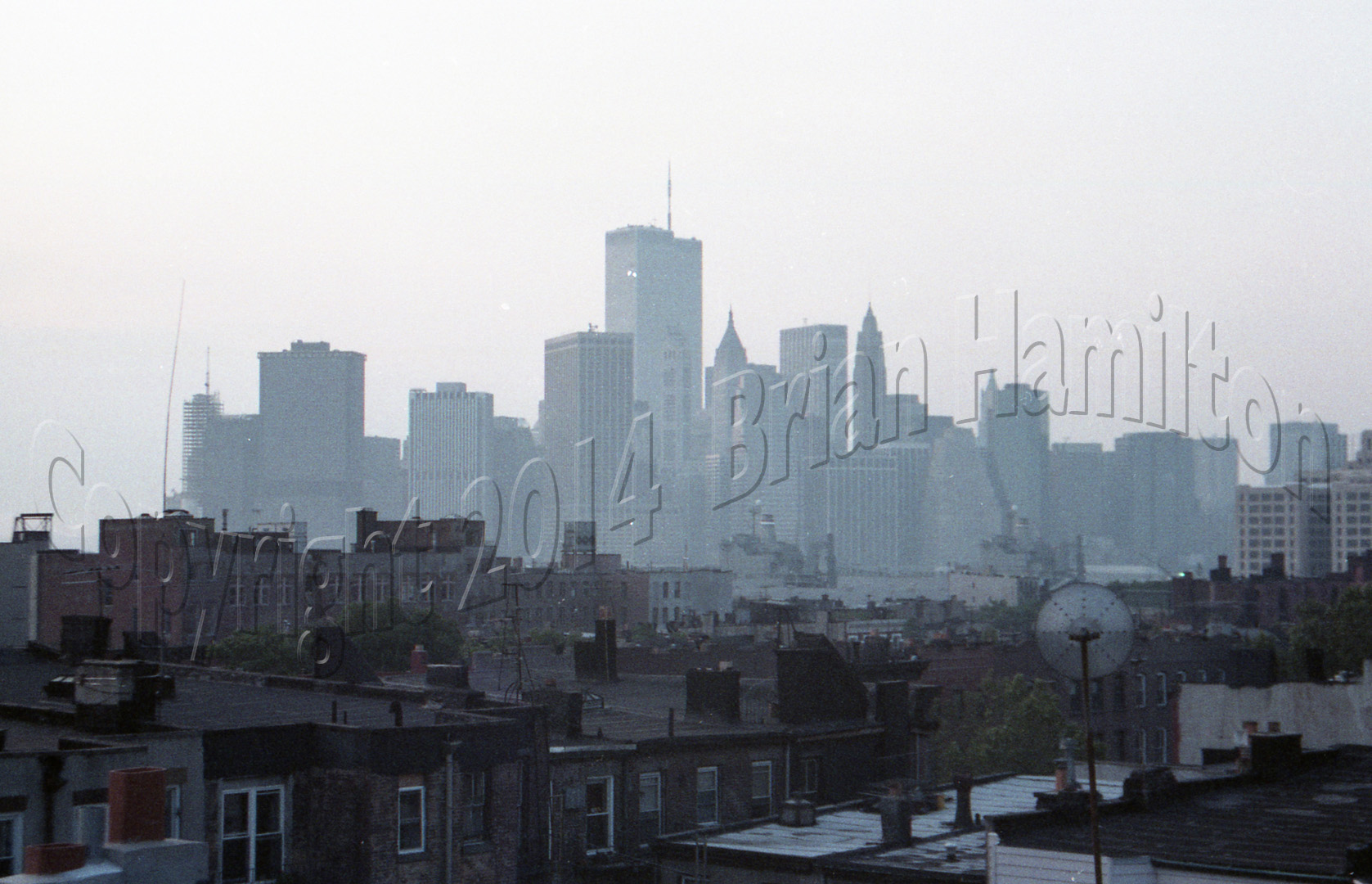 View of NYC from Brooklyn, 1986-1