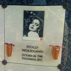 Holly Woodlawn's final resting place at Hollywood Forever cemetery in Los Angeles
