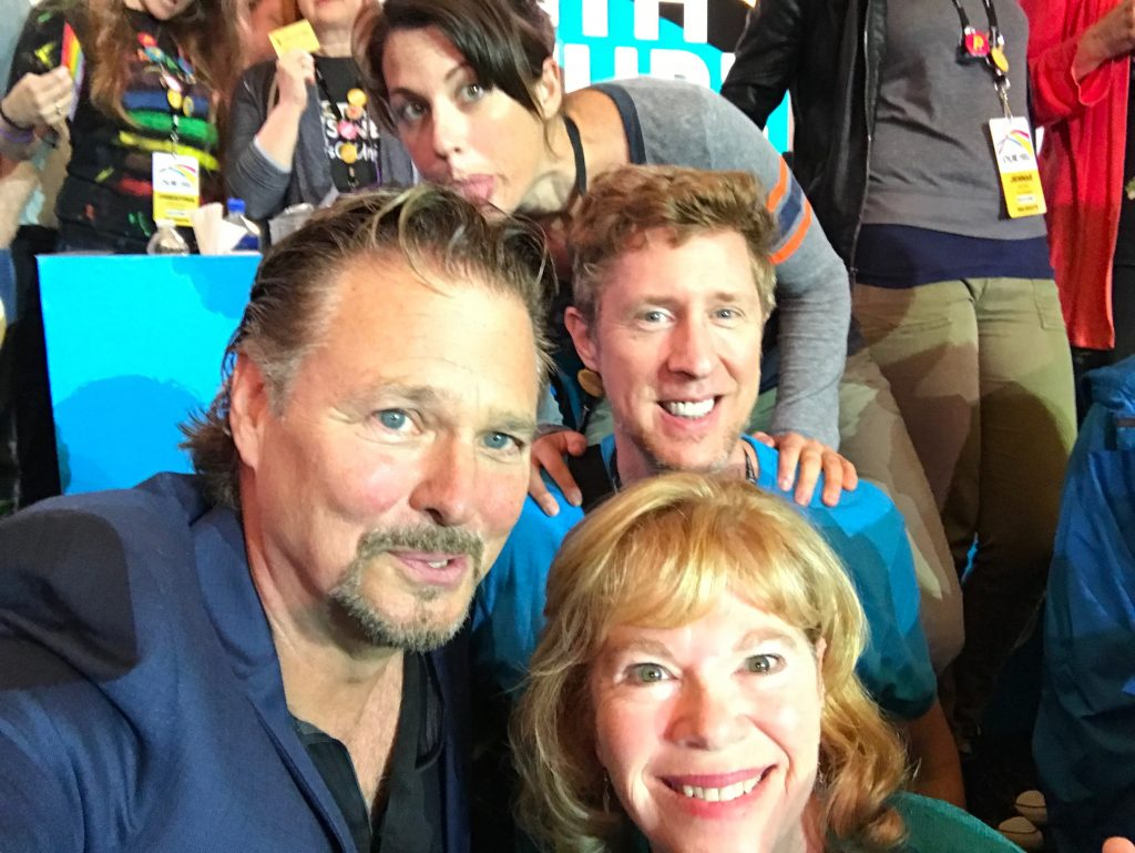 Greg Evigan, Brian Hamilton and Lynnanne Zager at SAGaftra convention 2017